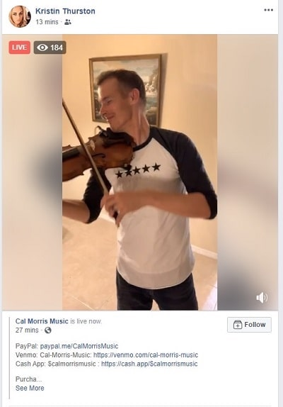 Virtual Concert Example Cal Morris