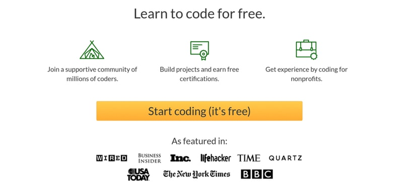 freeCodeCamp gives you hands-on web design experience for free.