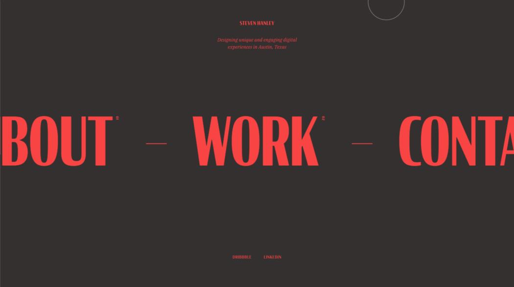 The web design portfolio of Steven Hanley