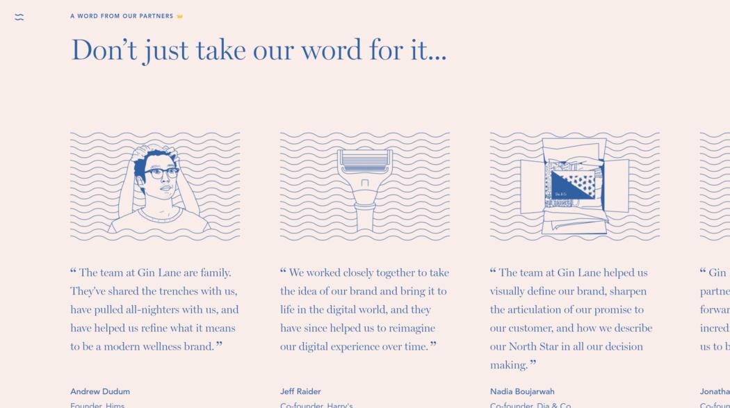 The web design portfolio of Gin Lane