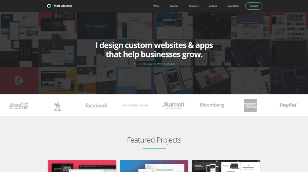 The web design portfolio of Matt Olpinski