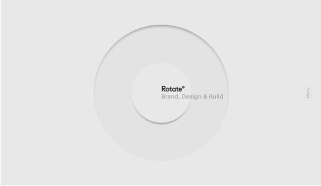 Studio Rotate had a unique rotational menu design in 2017.
