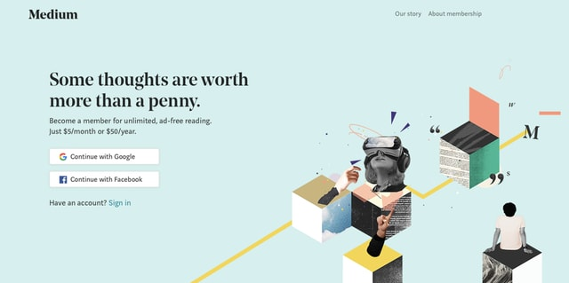 Medium designed a custom serif typeface to use on their site.