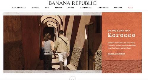 Web Design Trends Banana Republic