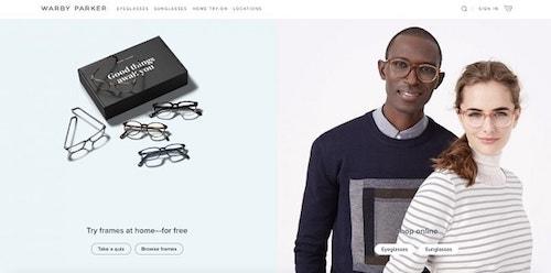 Web Design Trends Warby Parker