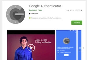 Web Page Security Google Authenticator