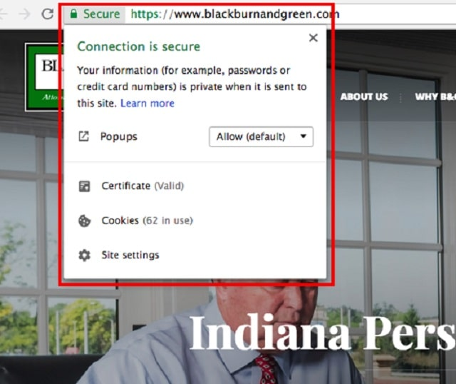 Web Page Security Indiana Secure