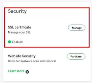 Web Page Security Security SSL