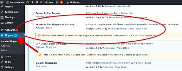 Web Page Security Update WordPress Plugins