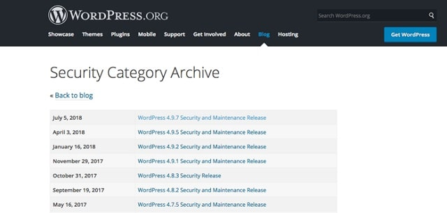 Web Page Security WordPress Archive