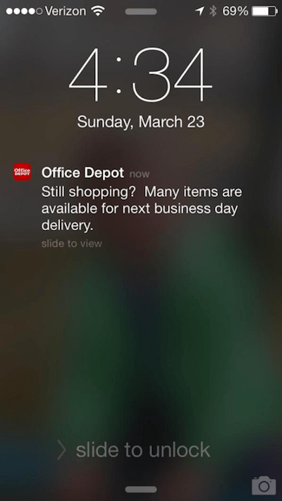 Web Push Notifications Office Depot