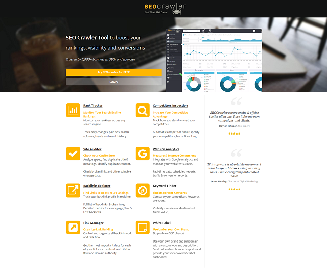 Website Optimization Tools SEOCrawler