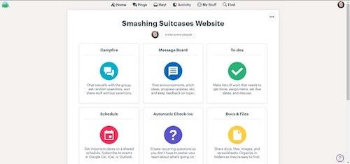 Website Project Management BaseCamp