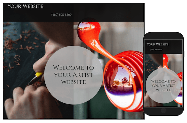 Websites for Artists to Sell Their Work GoCentral Template