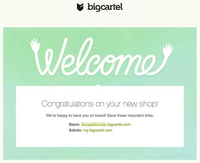 Welcome New Subscribers Big Cartel