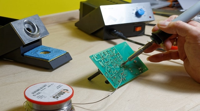 What Is The Internet of Things Soldering Iron on Circuit Board