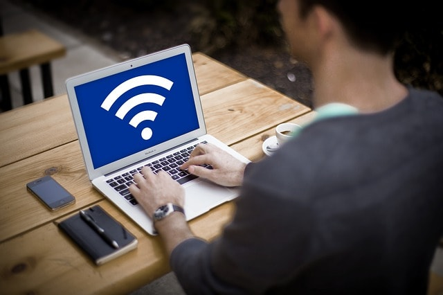 Wi-Fi Security Connected Laptop