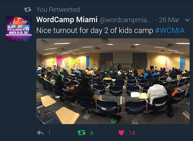 WordCamp Miami 2017 Day Two