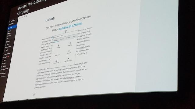 WordCamp US 2017 Gutenberg Example