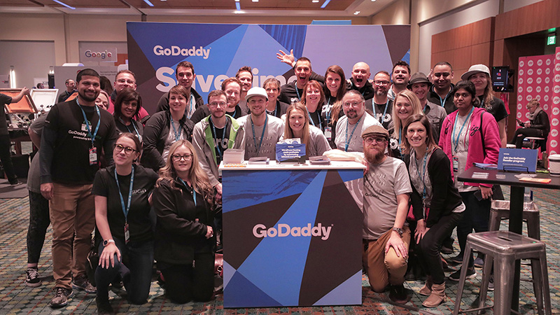 GoDaddy team at WordCamp US 2018