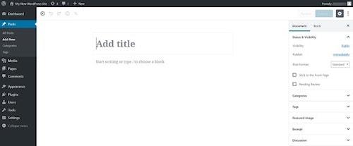 WordPress-5-Gutenberg Add New Post Title