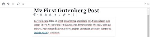 WordPress-5-Gutenberg First Post