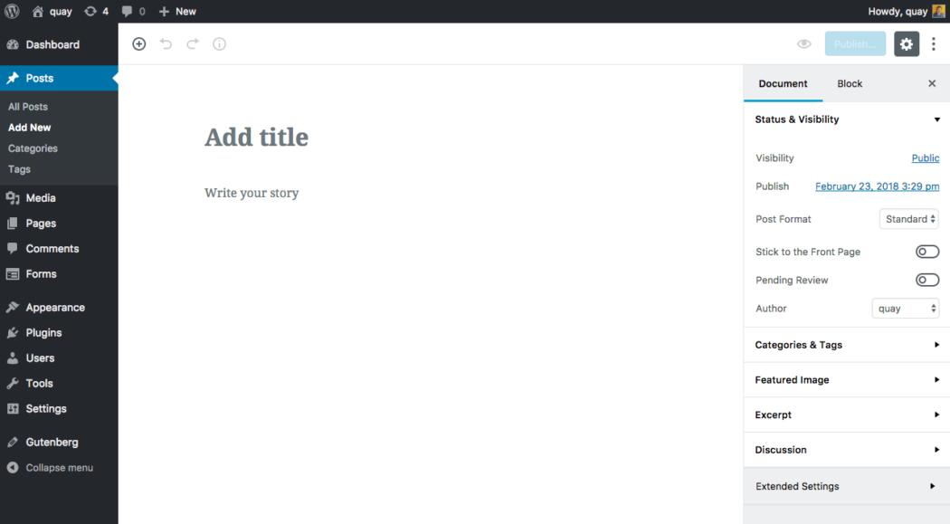 WordPress 5.0 Blocks