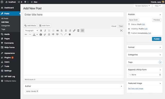 WordPress 5.0 WYSIWYG