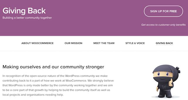 WordPress Community Giving Back