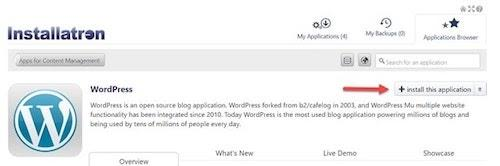 WordPress Cpanel Installatron