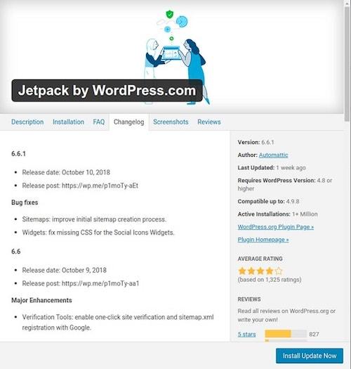 WordPress Maintenance Checklist Jetpack