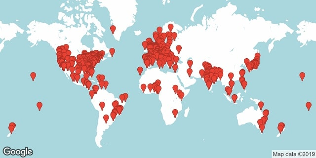 WordPress Meetups Static Map