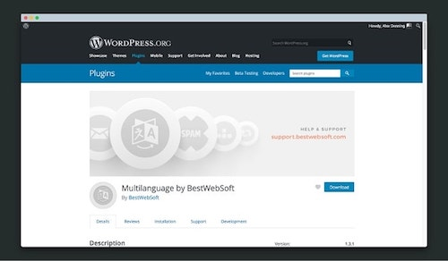 Wordpress Multilingual BestWebSoft