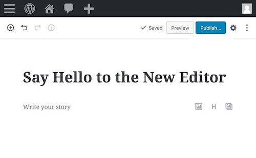 WordPress Page Builders New Editor