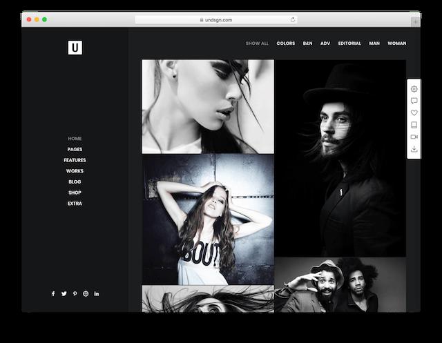 WordPress Photography Themes Uncode