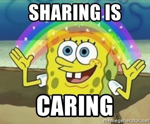 WordPress Social Media Plugins Spongebob Sharing Is Caring Meme