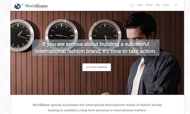 WorldBlazer Website Homepage