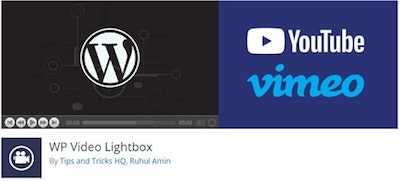 WP Video Lightbox WordPressorg Banner