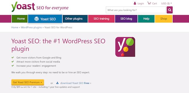 Yoast SEO Homepage